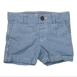 3/$15 Carter's Blue and White Striped Shorts 6M